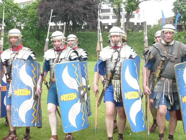 Apropos of nothing, I've realized that Roman military reenactment is rather popular in the United Kingdom. In a country that has not only strict gun laws, but also draconian laws restricting anything...